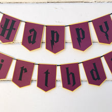 "Load image into Gallery viewer, Gryffindor ""Happy Birthday"" Banner"