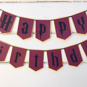 "Gryffindor ""Happy Birthday"" Banner"