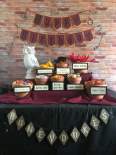 "Load image into Gallery viewer, ""Honeydukes"" Party Banner &  Candy Bar Signs"