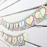 """Sprinkled with Love"" Baby Shower Banner"