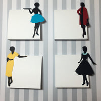 Retro Housewife Theme Place Cards, set of 8