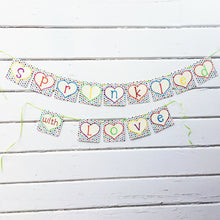"Load image into Gallery viewer, ""Sprinkled with Love"" Baby Shower Banner"