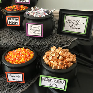 Halloween Candy Bar Signs, set of 11