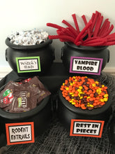 Load image into Gallery viewer, Halloween Candy Bar Signs, set of 11