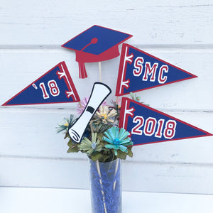 Graduation Flags Centerpiece