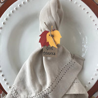 Thanksgiving Napkin Rings, Set of 20