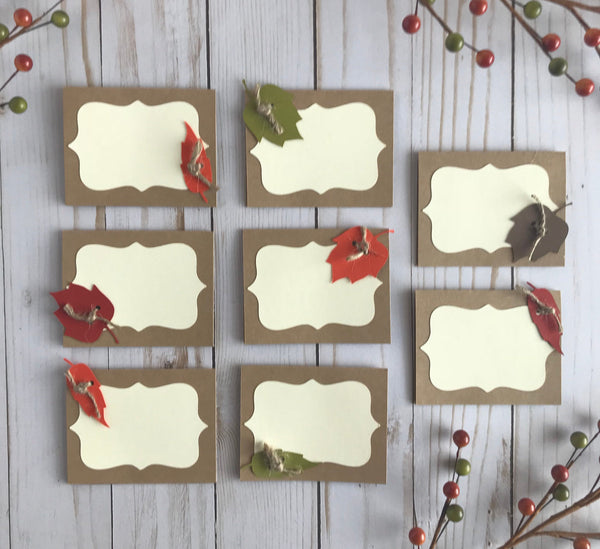 Thanksgiving Place Cards, Set of 8