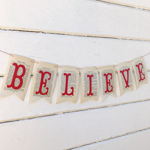"""Believe"" Christmas Banner"
