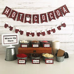 Hot Cocoa Bar Decor Kit