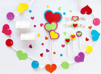 Sprinkle Baby Shower Heart Banner