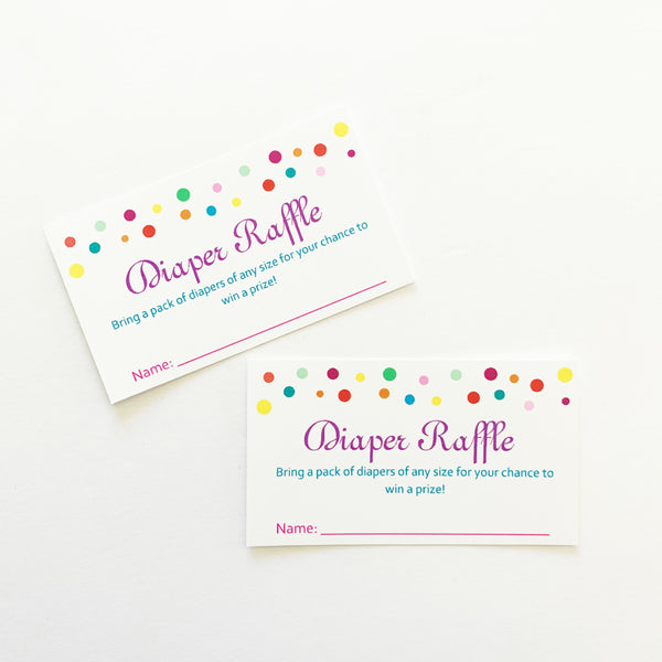 Sprinkle Diaper Raffle Cards, Set of 20