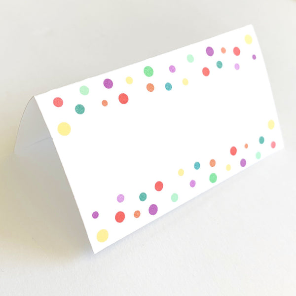 Sprinkle Baby Shower Place Cards, set of 12 -