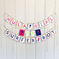 Hawaiian Gender Reveal Banner