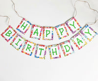 "Tropical/Hawaiian ""Happy Birthday"" Banner"