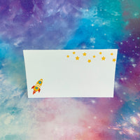 Rocket Ship Place Cards, Set of 12