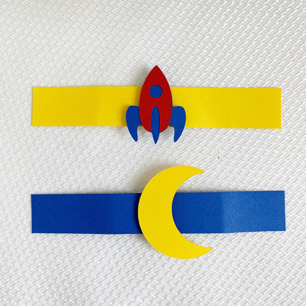 Rocket Ship Napkin Rings, Set of 20