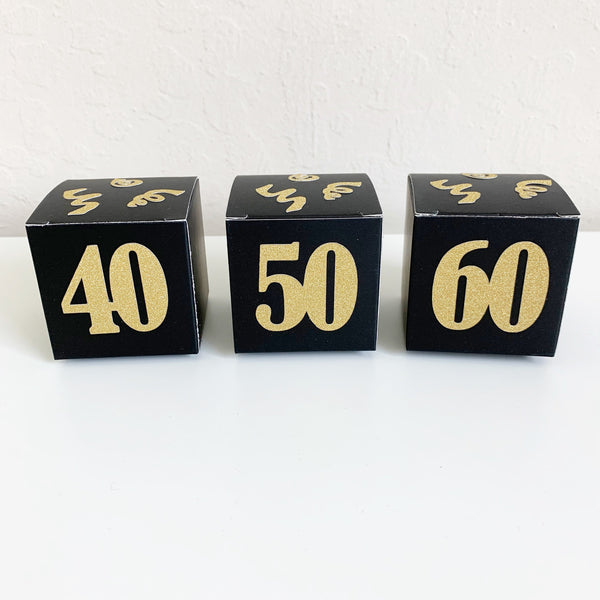 Adult Birthday Party Favor Boxes, set of 10