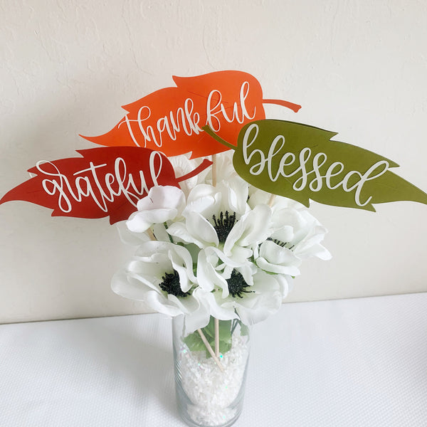 Thanksgiving Centerpiece, set of 3