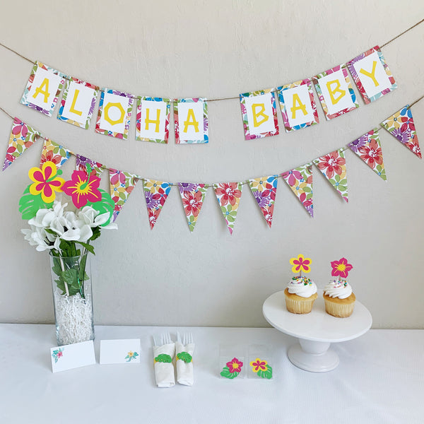 Aloha Baby Hawaiian Baby Shower Kit