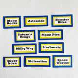 Rocket Ship Candy Signs, set of 10