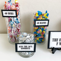 Adult Birthday Candy Signs