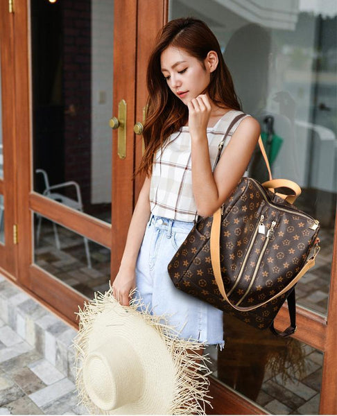(The best selling backpack+Free Shipping)-Fashion Leather Backpack-OVER 50%OFF ONLY FOR TODAY!