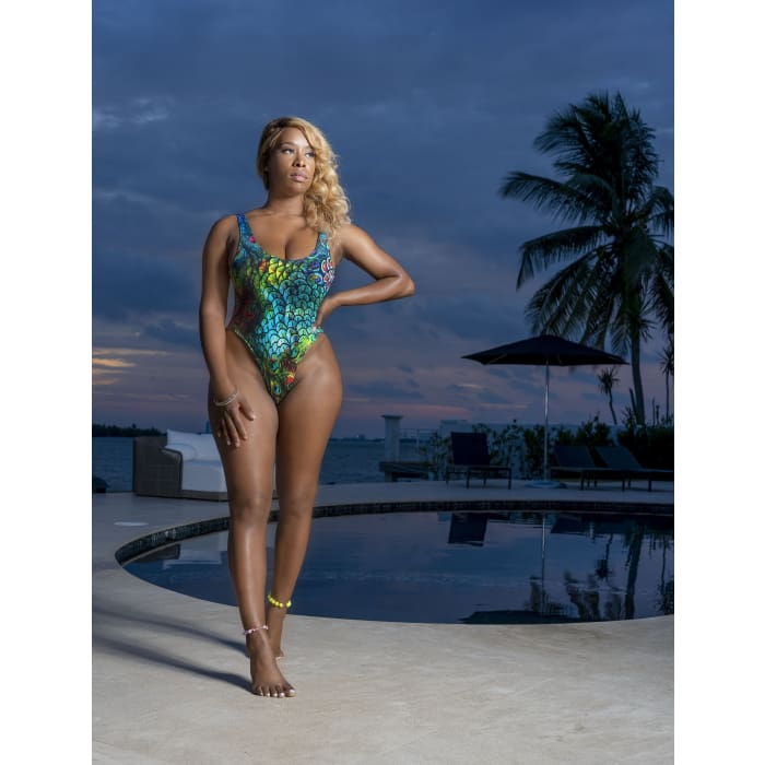 Colorful Peacock High-V One Piece