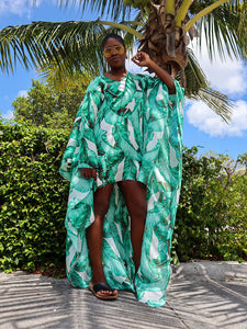 Beach Leaf High-Low Kaftan