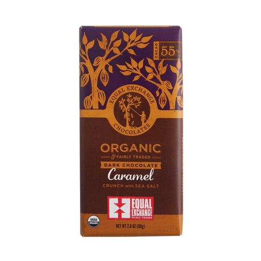 Chocolate Bar, Equal Exchange, Organic.  Caramel Crunch w/ Sea Salt. 55%
