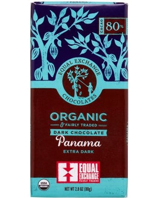 Chocolate Bar, Equal Exchange, Organic.  Panama. 80%