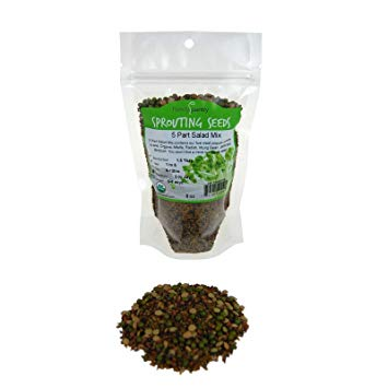 Sprouting Seeds, 5 Seed Mix, Organic