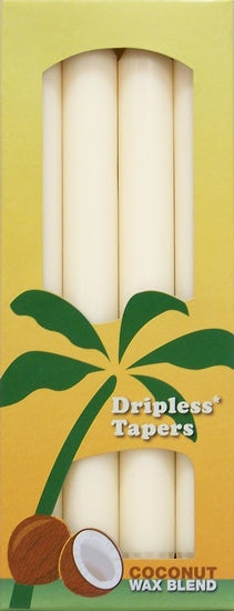 Aloha Bay Tapers, Dripless, 9in., Coconut Wax Blend, FT, 4-pk.