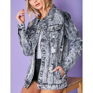 "The ""Rumours"" Acid Washed Denim Jacket"