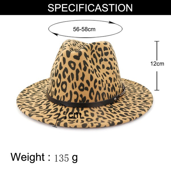 "The "" Callie"" Leopard Fedora"