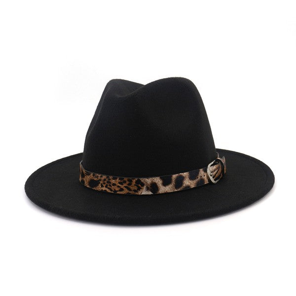 "The ""Everly"" Leopard Band Fedora"