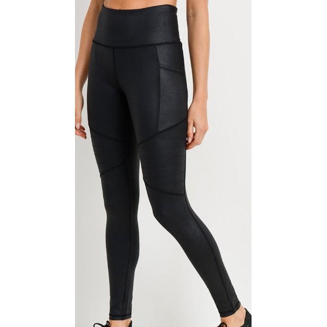 "The ""Ollie"" Faux leather Moto Leggings"
