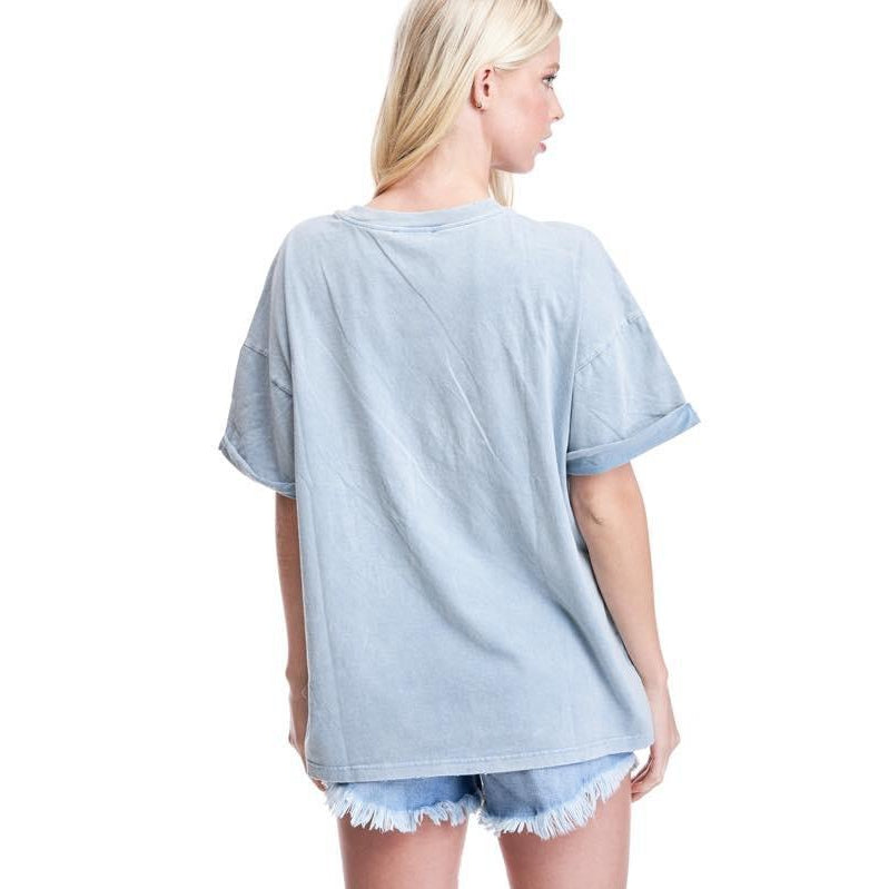 "The ""Johny"" Mineral washed Boyfriend t-shirt"