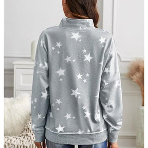 """Catching Stars"" half zip sweater"