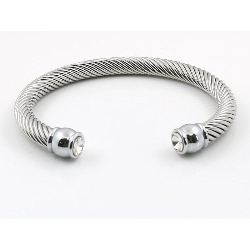 The Cable Cuff Bracelet - Silver