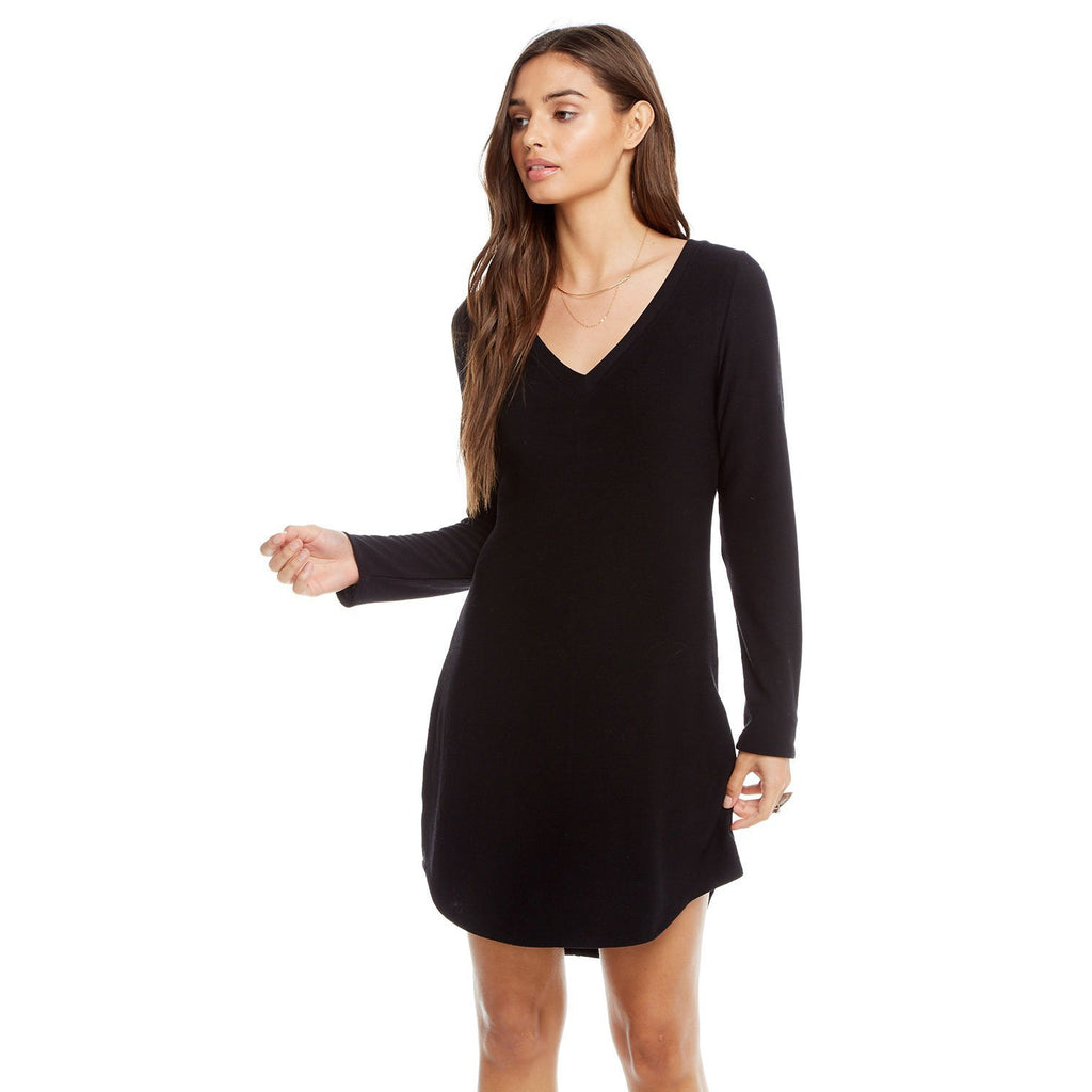 Chaser V-Neck Shirtail Mini Dress