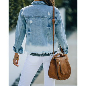 Darien Cotton Pocket Dip Dye Denim Jacket