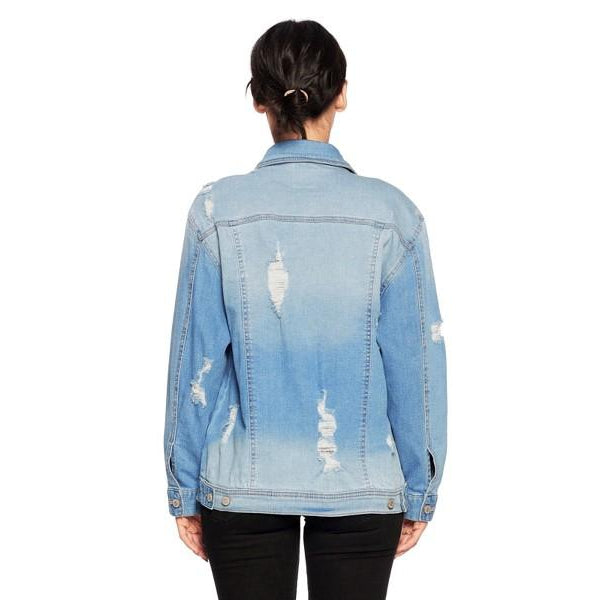 Your Boyfriend's Distressed Jean Jacket