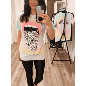 "The ""Just Lips"" Tie Dye Tee"