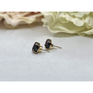 Paris Druzy Earrings - Gold & Black