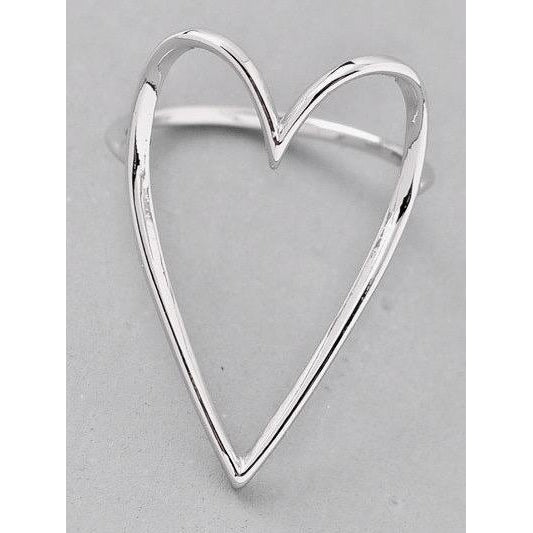 Love Heart Ring - Silver