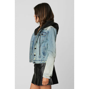 Blank NYC Casual Encounter Hooded Jean Jacket