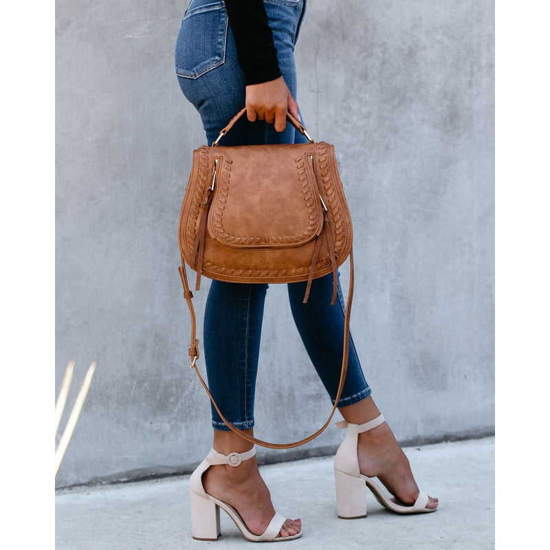 "The ""Khloe"" Saddle Satchel Bag - Coffee"
