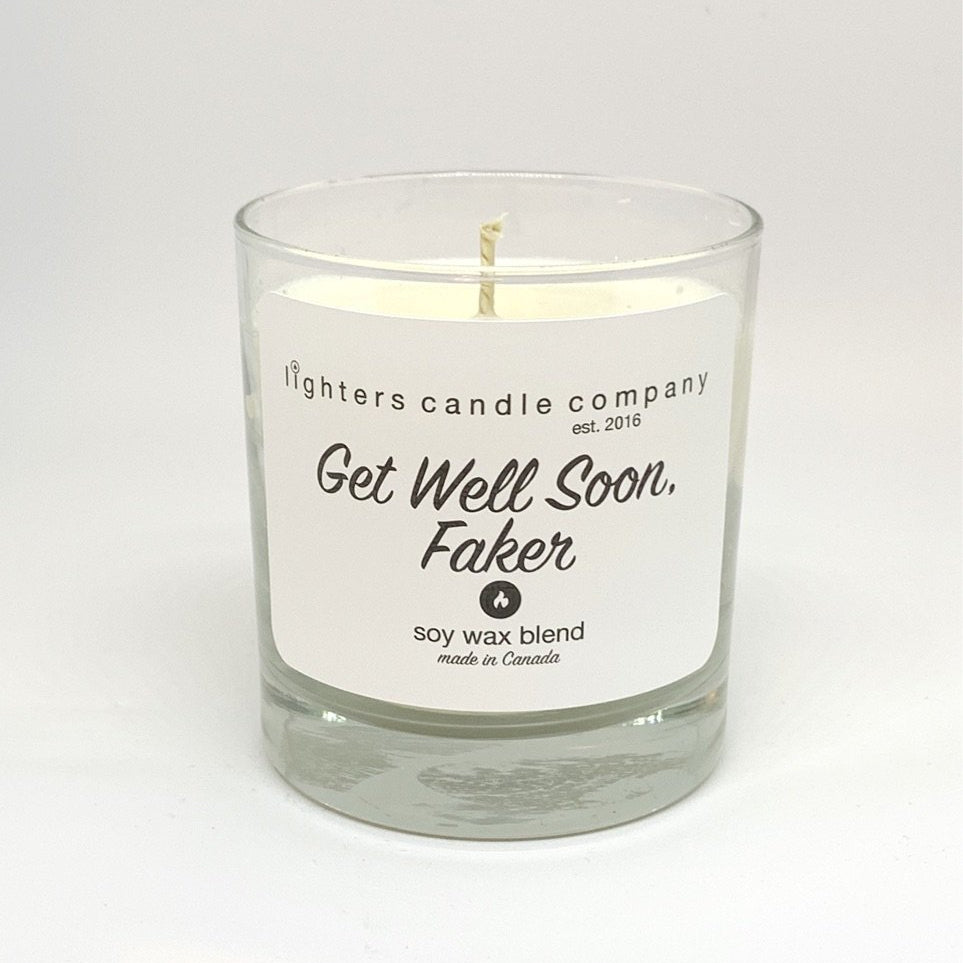 Get Well Soon Faker Candle