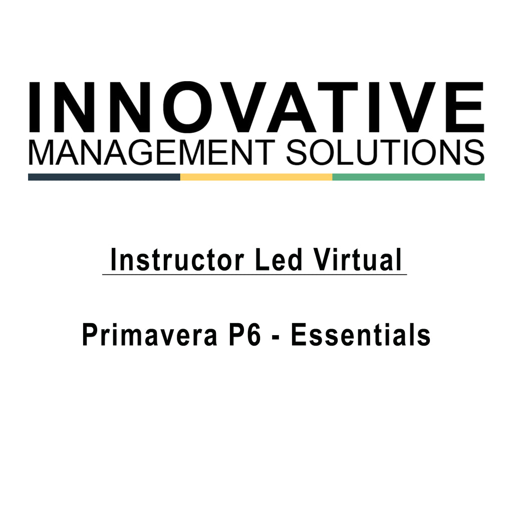 Instructor Led Virtual - Primavera P6 Professional - Essentials