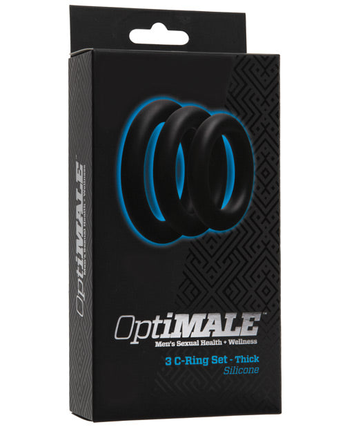 OptiMale C Ring Kit Thick - Black